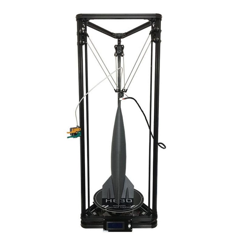 HE3D Date Kossel K280 grand delta 3D kit imprimante impresora 24 V 400 w puissance avec auto niveau et chaleur lit deux filament pour cadeau
