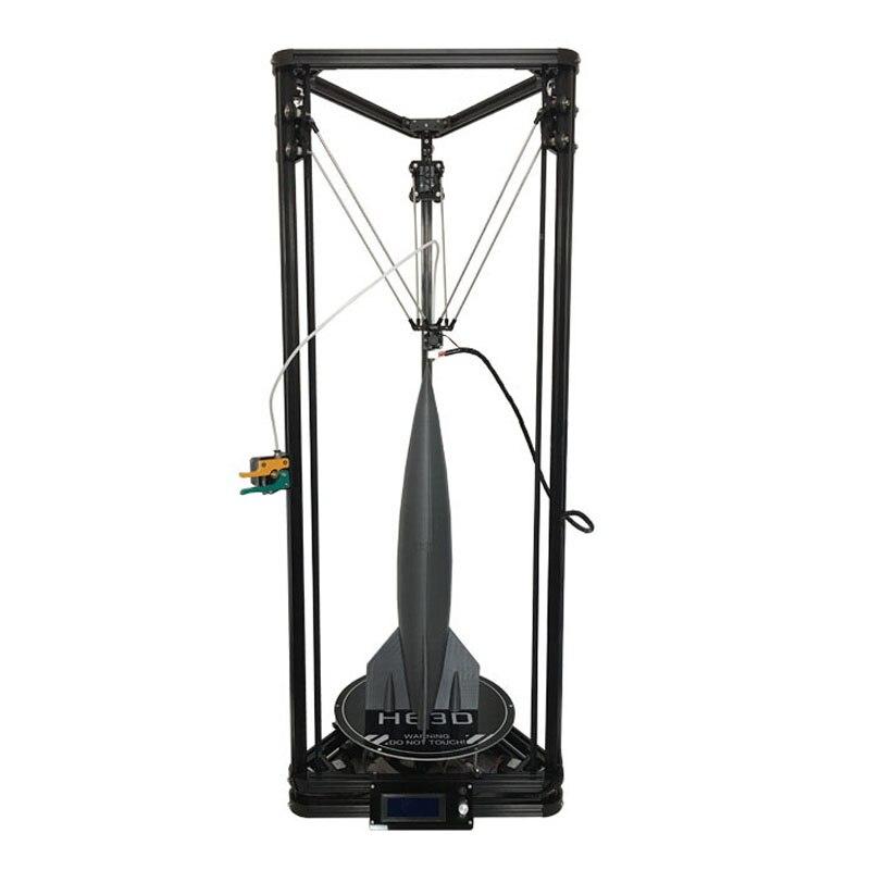 HE3D Più Nuovo Kossel K280 grande delta 3D kit stampante impresora 24 v 400 w di alimentazione con livello di auto e di calore letto due filamento per il regalo