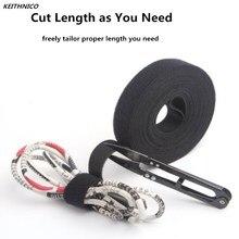 KEITHNICO noir Nylon serres câble enroulé ligne de cordon réutilisable fil organisateur gestion crochet boucle magique ruban enrouleur de câble