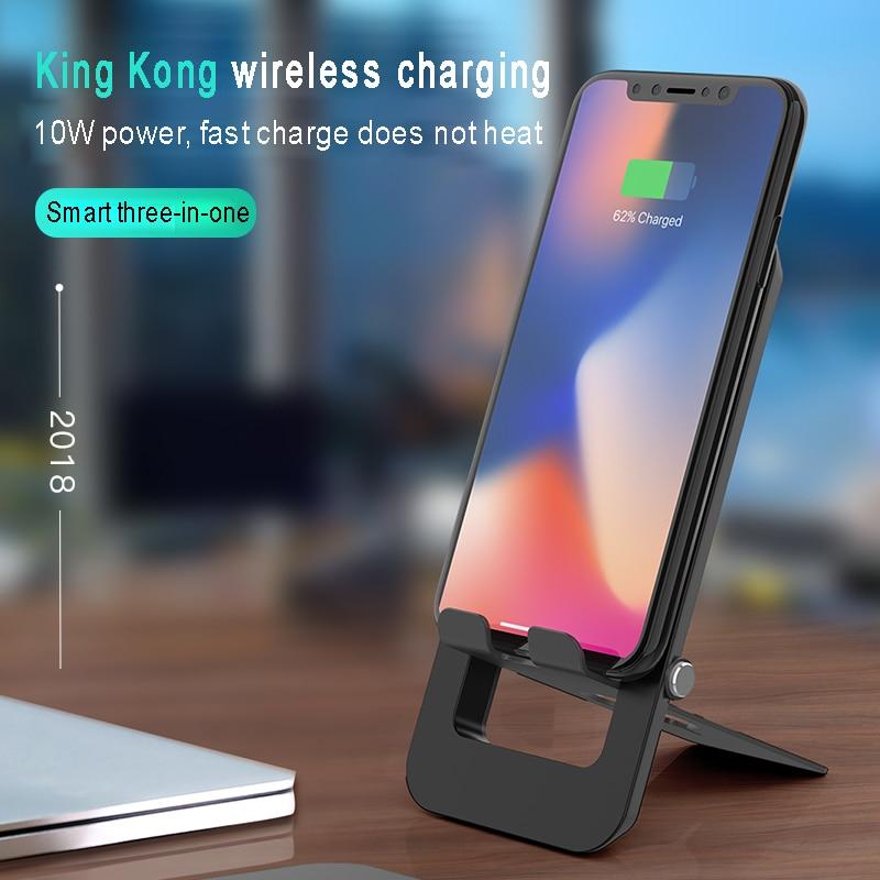 JS Lantro Rápida Suporte de Carga Sem Fio Qi Carregador Sem Fio Para Casa 3.0 para iPhone Samsung Huawei Xiaomi