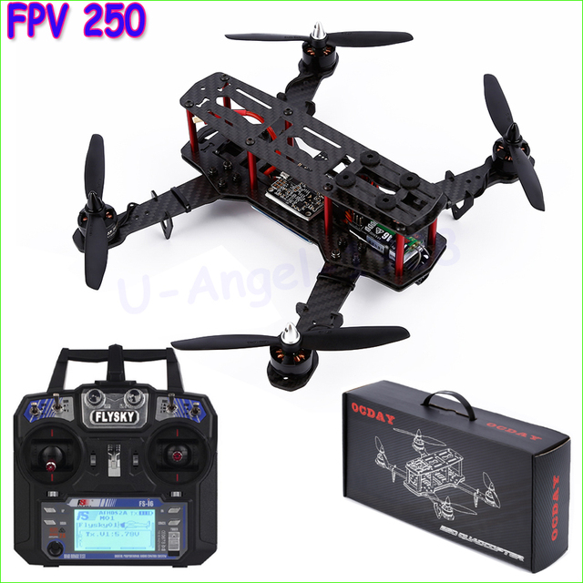 Mini FPV250 250mm quadrocopter Quadcopter kit 4 Axles with flysky fs-i6 Control Rack FOR QAV250 NAZE32 drones dron rc helicopter
