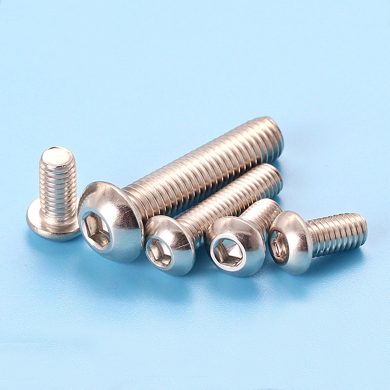 M5 stainless steel screw allen with washer semi-round head bolts hex socket bolt
