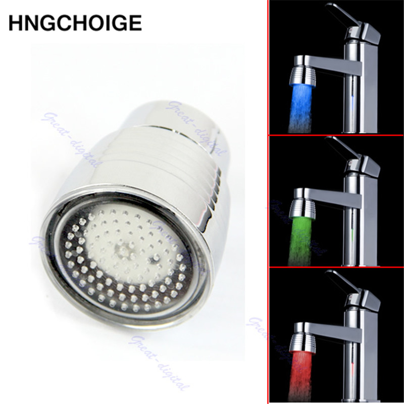 Hot Sale Temperature Sensor 3 Color Kitchen Water Tap Faucet RGB Glow Shower LED Light
