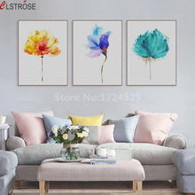 CLSTROSE Watercolor Beautiful Plant Rose Flower Canvas Art Painting Print Kawaii Animal Bubbles Nursery Wall Picture Kids Room