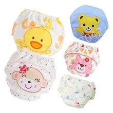 Детские тренировочные трусики, многоразовые моющиеся подгузники, нижнее белье для новорожденных, хлопковые