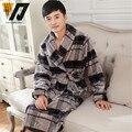 Franela de invierno para hombre camisón pijama establece hombre espesar albornoces cómodo caliente suelta chándal