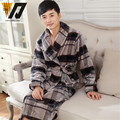 Winter Male Flannel Nightgown Pajamas Sets Man Thicken Bathrobes Comfortable Warm Loose Tracksuit