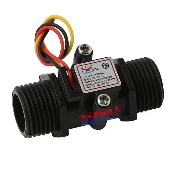 цена на Water Flow Meter Flowmeter Hall Flow Sensor indicator counter caudalimetro black G1/2 0.5-25L/min 1.2MPa F=6*Q Flow sensor