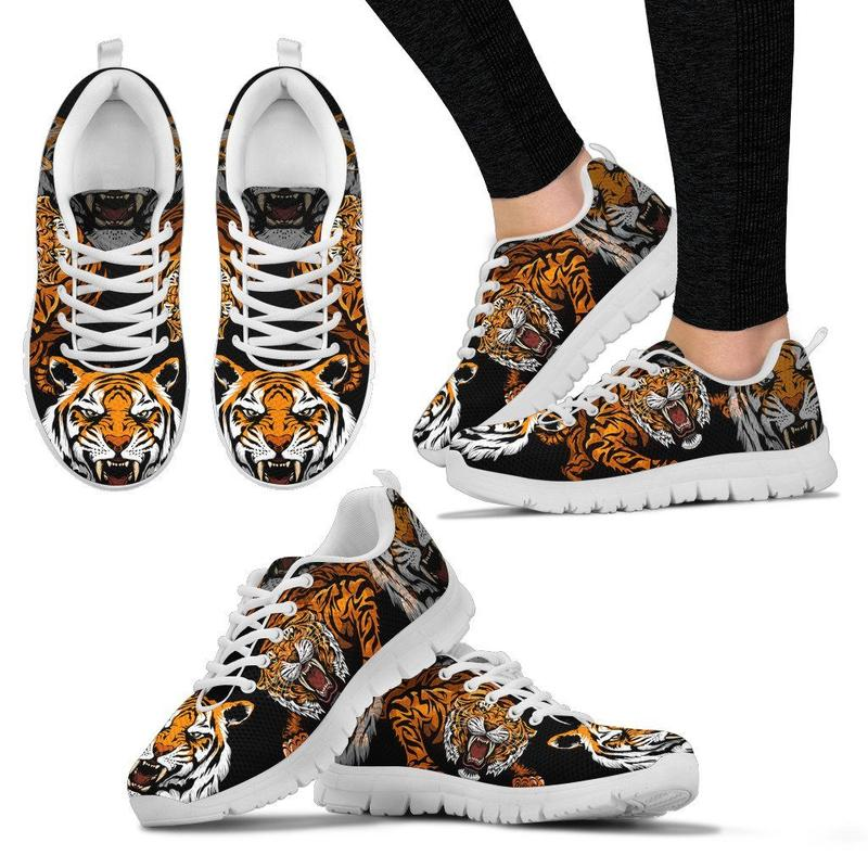 doginthehole Sneakers for Men Running Shoes Tiger Wolf Lion Printing Men Sneakers Sport Shoes for Male Mesh Flat Athletic Shoes
