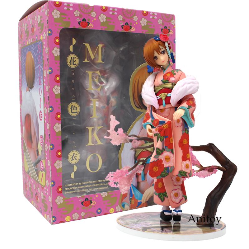 VOCALOID Meiko Kimono Ver. 1/8 Scale PVC Figure Collectible Model Toy 18cm Hatsune Miku j ghee vocaloid hatsune miku with electric guitar greatest idol ver 1 8 scale painted pvc action figure collectible model toy