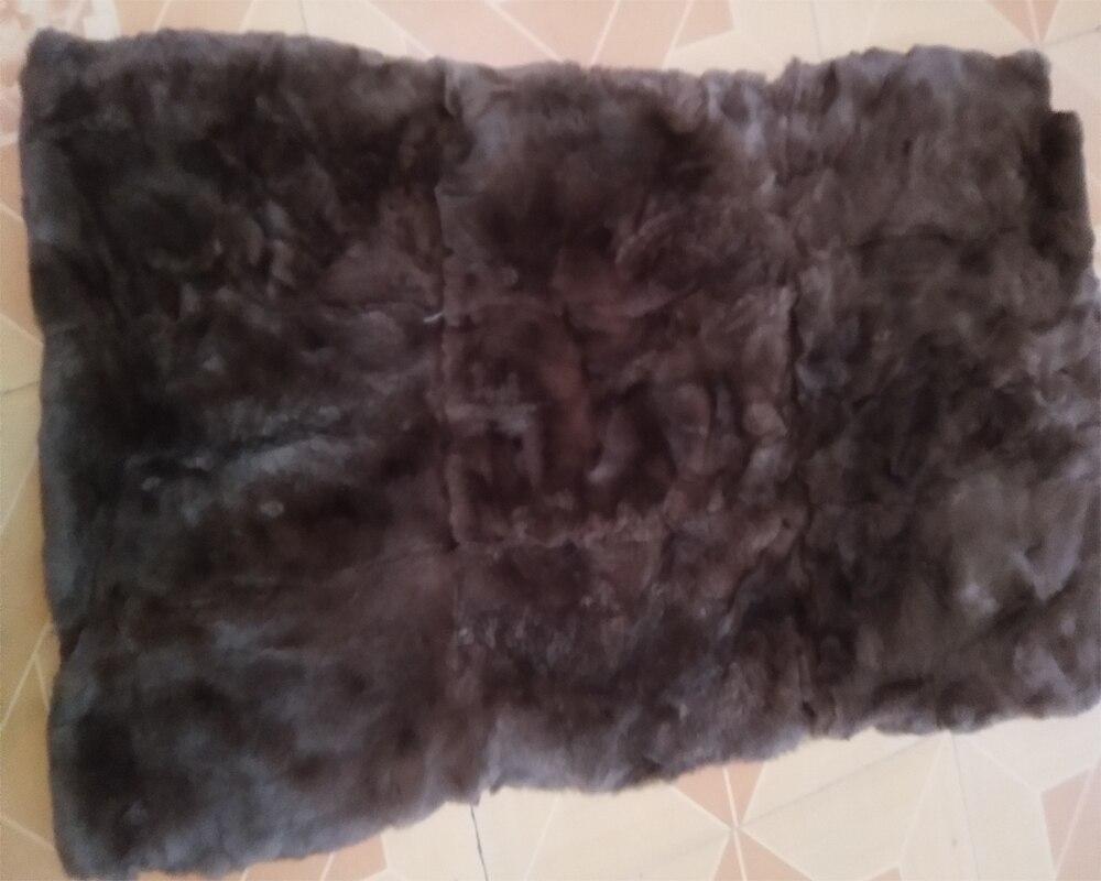 Rex lapin plaque de fourrure plaques de couverture réel tapis de fourrure bonne qualité doux handfeel accessoire de vêtement nouveau