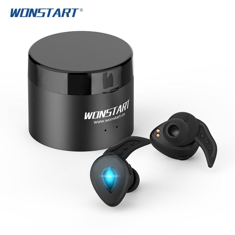 Wonstart W305 Mini TWS Bluetooth Earphone True Wireless Earbuds With Charging Case HIFI Stereo Sound Wireless Earphone For Phone
