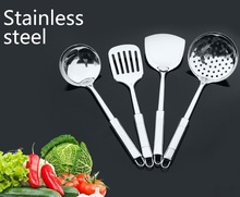 free shipping 4pcs Stainless steel cookware set piece set spatula spoon fried shovel cookware spoonfuls full set