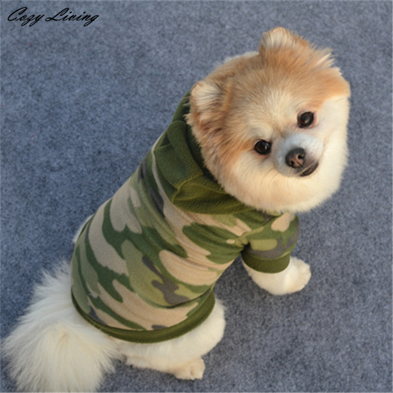 1 PC S,M,L,XL Stylish Dog Pet Clothes Hoodie Warm Sweater Puppy Coat Apparel Camouflage Cheap Pet Clothes For Dogs Cats D19