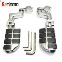 Kemimoto frente pé peg footrest para honda goldwing gl1800 vtx1800 gl1800 2001-2011 vn2000 para sportster 883 xl120