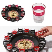 SDFC Popular Shot Glass Roulette Set Novelty Drinking Game With 16 Shot Glasses Party Game Stock