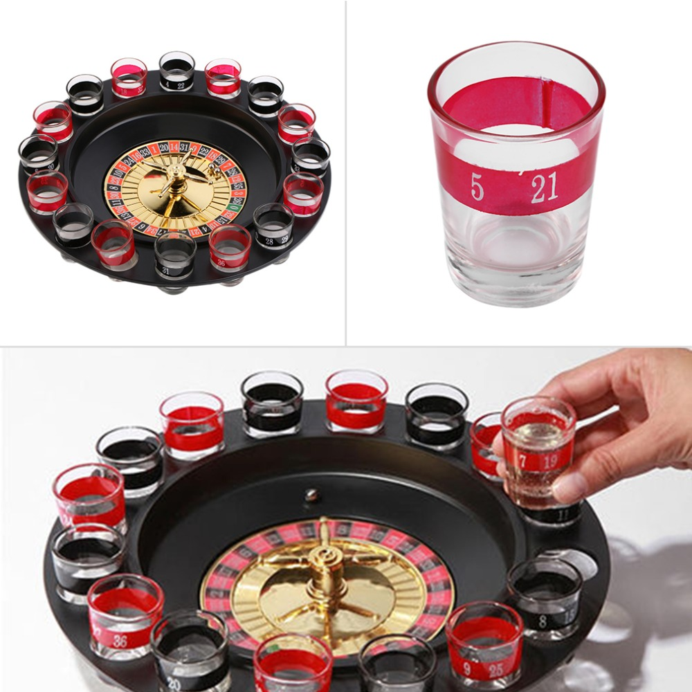 Top 12 Fun Drinking Games For Parties: SDFC Popular Shot Glass Roulette Set Novelty Drinking Game