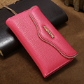Floveme 2 en 1 caso adorption de nuevo para iphone 6 6 s 7 más cubierta de la carpeta, patrón del lichí de la pu funda de cuero para iphone 7 plus bolsas