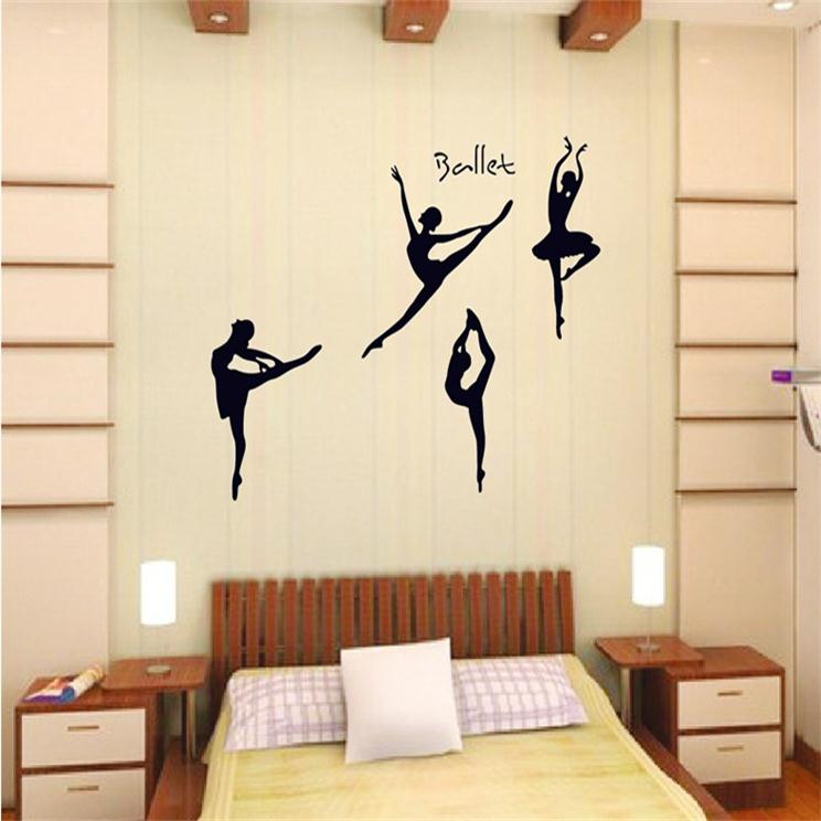 <font><b>elegant</b></font> Ballet Dream music Dancer girl beauty <font><b>home</b></font> decal wall sticker for girls room bedroom <font><b>decoration</b></font> party supply wall art