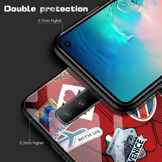Marvel Spiderman Tempered Glass Phone Case For Samsung Galaxy S8 S9 S10 e 5G Plus Note 9 8 Luxury Avengers Cover