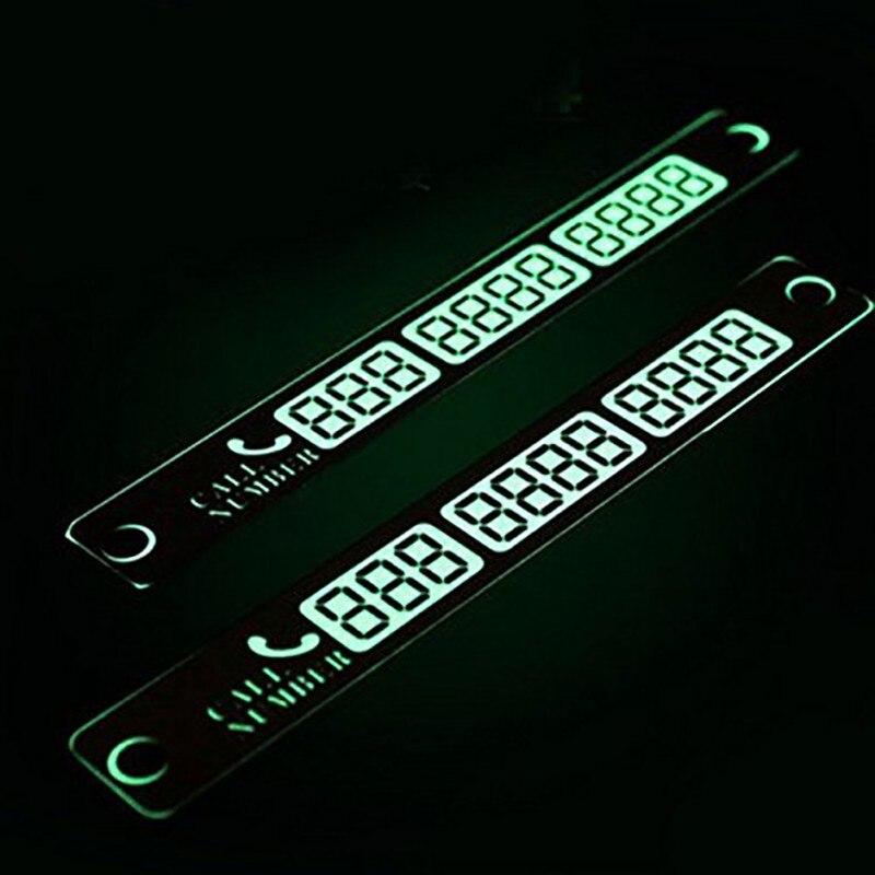 Новый Дизайн Автомобиль инструменты ночь остановить номер телефона Совет серебро световой временная остановка знак Предупреждение Contact