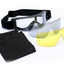 3 Pieces NEW Brand Airsoft Tactical USMC X800 Goggles Army O
