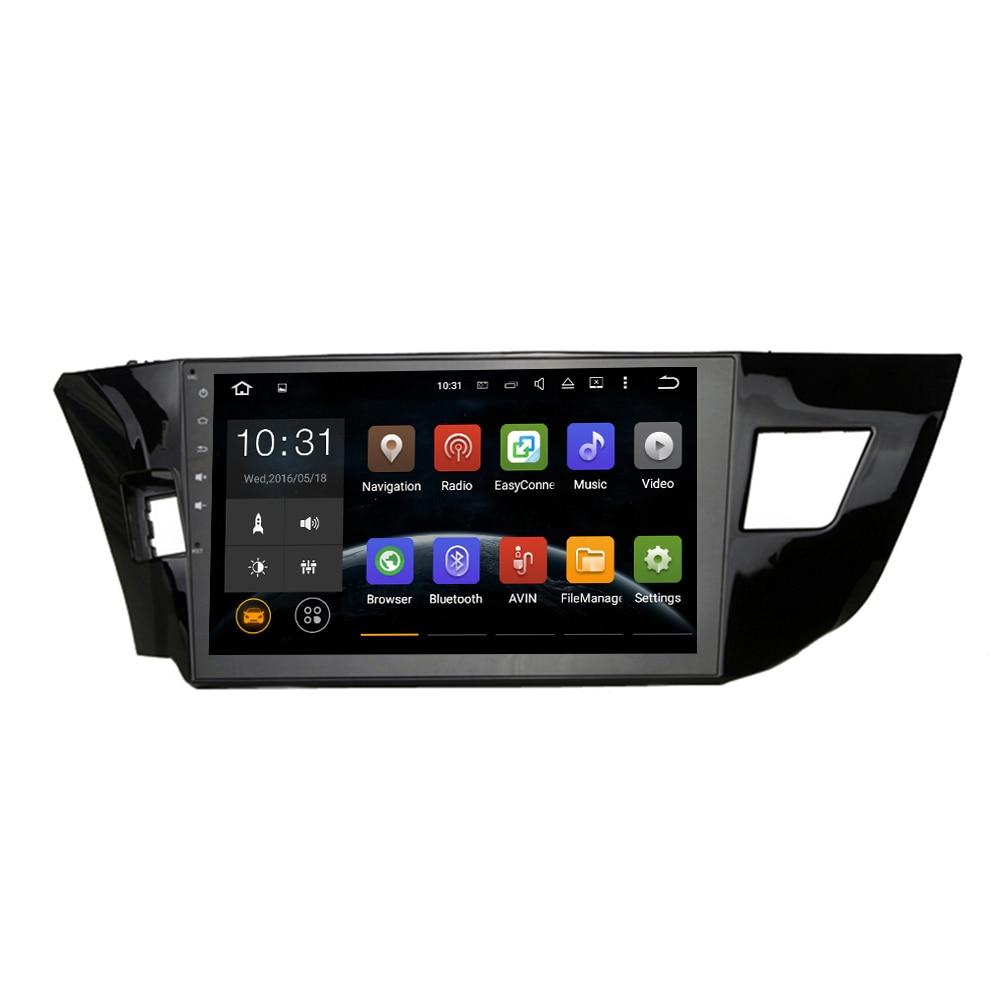 Car Head unit GPS Navi for Corolla 2014 2015 navi GPS head device 2din Radio RDS