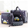123AQ# 3 Colors 3PCS/Set High Quality Tote Baby Shoulder Diaper Bags Durable Nappy Bag Mummy Mother Baby Bag 2015 New Fashion