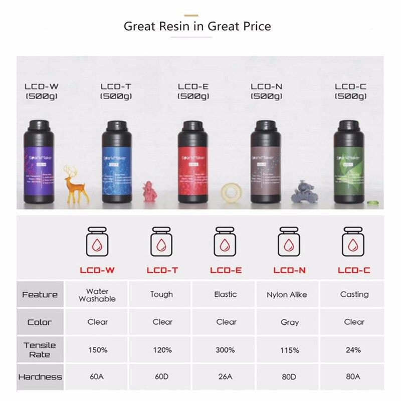 SparkMaker LCD/SLA/DLP professionnel 3d imprimante pièces & accessoires 3d imprimante filament 405nm résine
