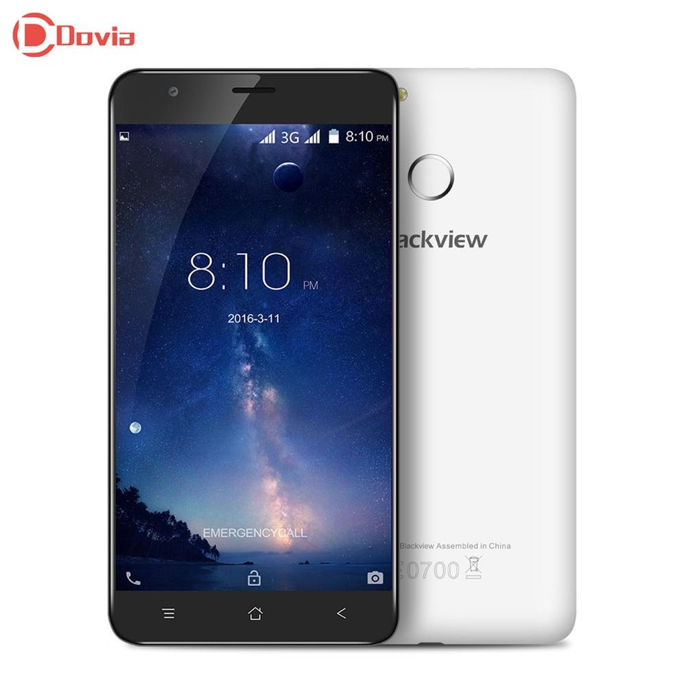 Цена за Blackview e7s android 6.0 5.5 дюймов 3 г телефон mtk6580 quad Core 2 ГБ RAM 16 ГБ ROM Сканер Отпечатков Пальцев GPS 2700 мАч Мобильный телефон