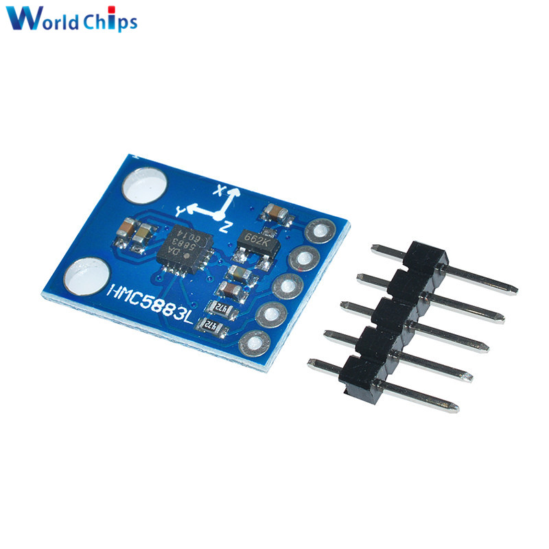 Image 2 - GY 273 3V 5V HMC5883L Triple Axis Compass Magnetometer Sensor Module Three Axis Magnetic Field Module For Arduino-in Integrated Circuits from Electronic Components & Supplies