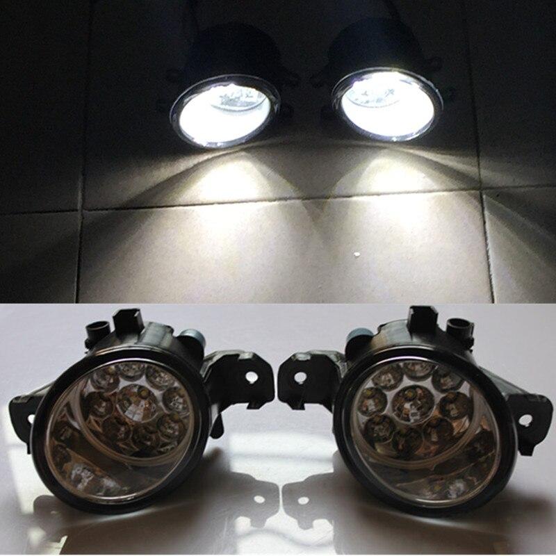For Renault CLIO 3/III (BR0/1, CR0/1) Hatchback 2005-2015 Car styling front bumper LED fog Lights high brightness lamps1set