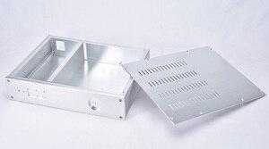 Image 4 - KSA 5 Серебряный алюминиевый усилитель аудио шасси мини усилитель мощности коробка DIY AMP Case