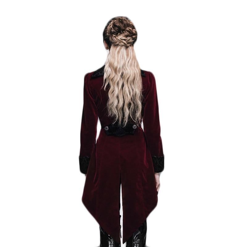 Gothic Women's Coat Steampunk Court Loyal Long Қаптамалар - Әйелдер киімі - фото 5