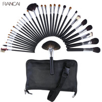 Professional 32pcs Makeup Brushes Set Goat Hair Pincel Maquiagem Powder Contour Brush Cosmetic Complete Kit With