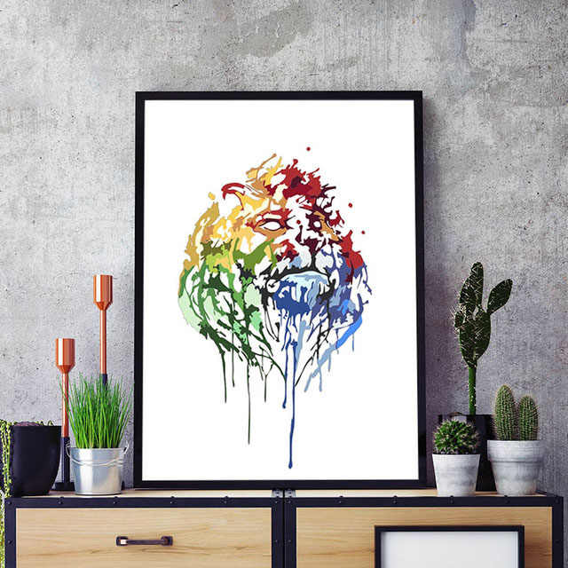Pintura Por Números Arte Pintura Número León Acuarela Dibujo