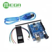 1PCS FPM10A Fingerprint Module 1pcs UNO R3 MEGA328P With Usb Cable