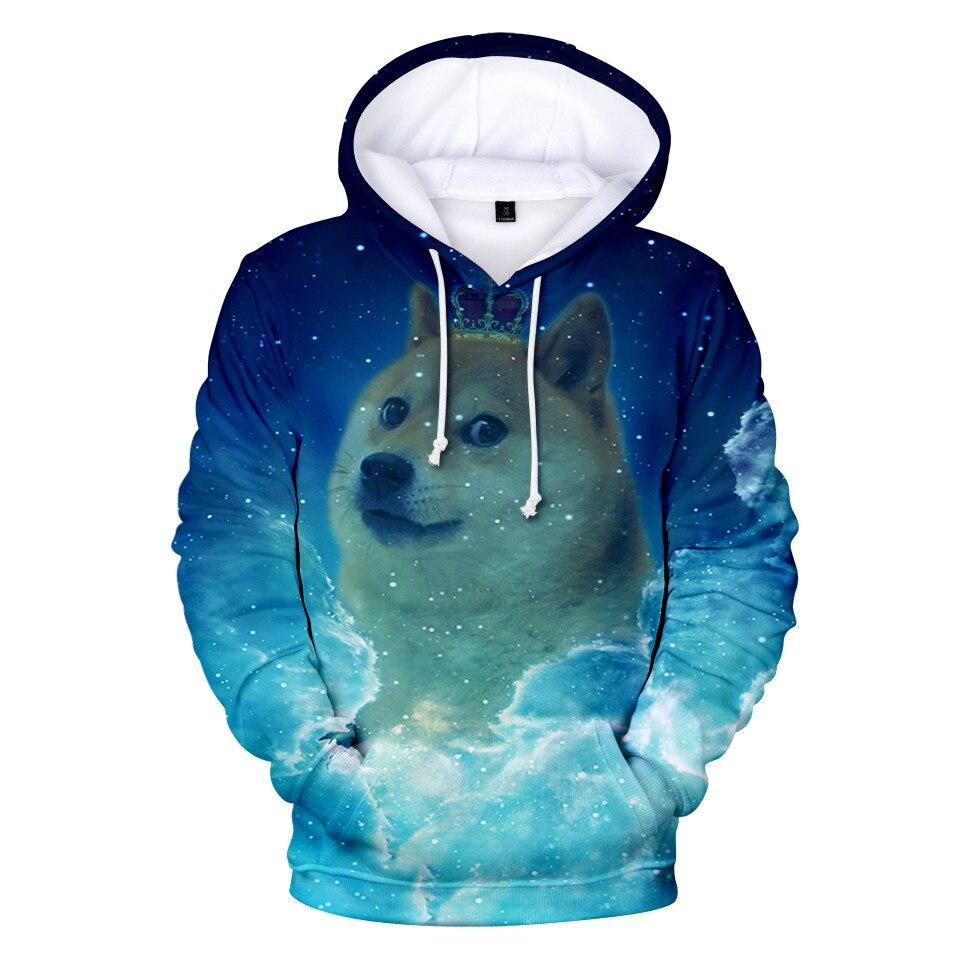 Shiba Inu Doge Dog 3D Print Hoodie Men Women Kawaii Cartoon Hoodies Sweatshirt Harajuku Hip Hop Tracksuit Tops Clothes