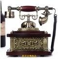 208A moda vintage teléfono de madera antiguo teléfono teléfono manos libres identificador de llamadas