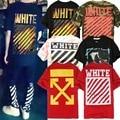Off White Rayado C/O 13 Virgil Abloh Camisetas de Los Hombres de Moda de Verano de alta Calidad de Algodón de Hip Hop Kanye West Camo Off Blanco Camisetas
