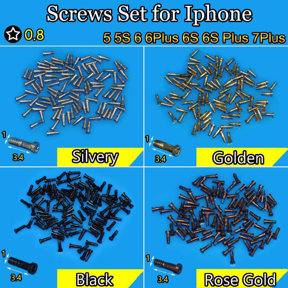 2PCS New 0.8 star bottom screw replacement for iphone 6S 6S Plus 7plus 5 5s 6  Silvery/Black/Golden rose Gold high quality