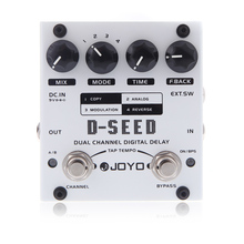 цена на JOYO D-SEED Effect Pedal Mini Dual Channel Digital Delay Guitar Effect Pedal Board Guitar Parts & Accessories With Four Modes