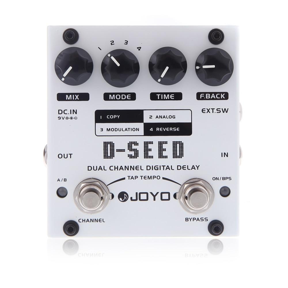 JOYO D-SEED pédale d'effet Mini double canal numérique retard guitare effet pédale conseil guitare pièces et accessoires avec quatre Modes