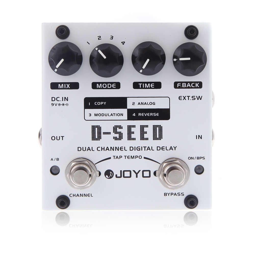 JOYO Pedal Efeito D-SEED Mini Placa de Dual Channel Digital Delay Pedal Efeito Guitarra Guitar Parts & Accessories Com Quatro Modos