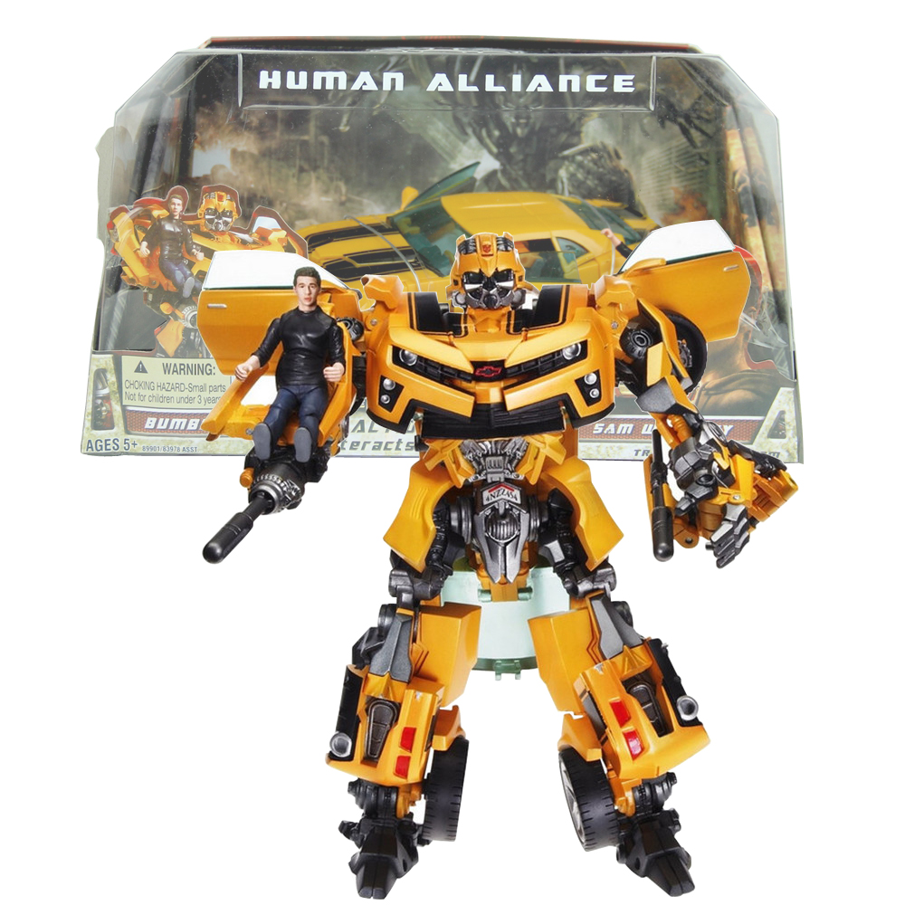 Transformation Human Alliance Car Robot With Sam Christmas Gift for Boys real transformation car robot human alliance bumblebee and sam birthday gift for boys