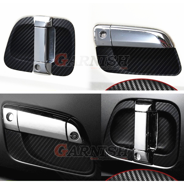 JY 6PCS Rubber Door Handle Bowl Car Styling Cover Accessories Sticker For TOYOTA HIACE 200
