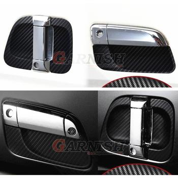 JY 6 sztuk gumowe klamka do drzwi miska Car Styling pokrywa akcesoria naklejka do Toyoty HIACE 200 tanie i dobre opinie