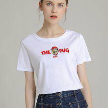 цены Fashion T-Shirt Cute Women Big Plus Size Tshirt Femme Print Picture T Shirt Top White Female Tops Short Tee Shirt Funny Girl