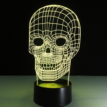 Fashion Music Player with Skull LED Lights Creative color changing night light USB desktop desk Bluetooth Speaker 3D Vision Lamp kmashi new led flame lamp night light wireless speaker touch soft light iphone android bluetooth 3d bass music player