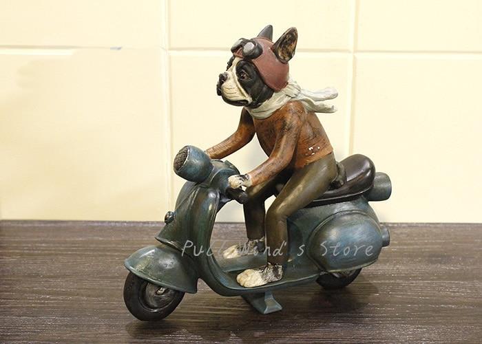 Pull vent motos résine ornements moto artisanat décoration créative salon bureau décoration beau cadeau